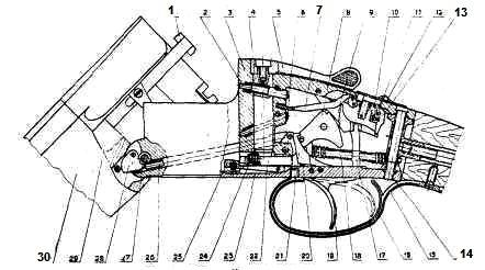 схема механизма иж 27